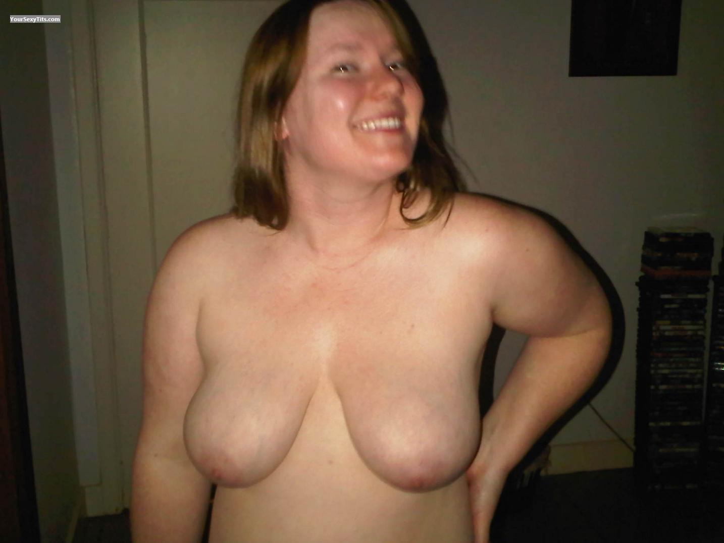 Tit Flash: My Big Tits - Topless Loren from United States